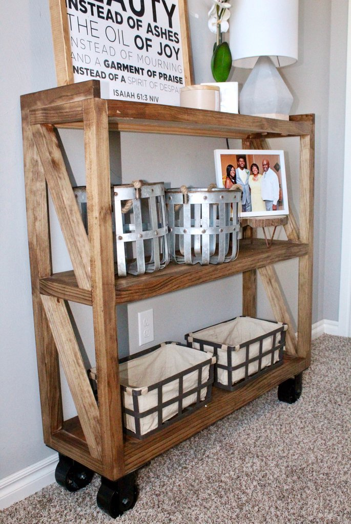 DIY Industrial Console cart for the Home Entryway