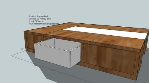 Diy queen size platform bed with drawers discover woodworking projects - How to make a platform bed with drawers ...