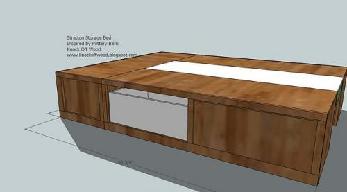 woodworking plans queen storage bed - DIY Woodworking Projects