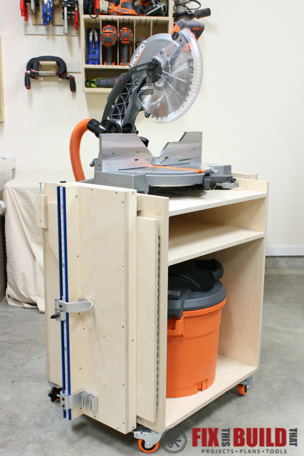 Mobile Miter Saw Workstation