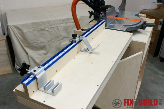 Mobile Miter Saw Kreg Fence
