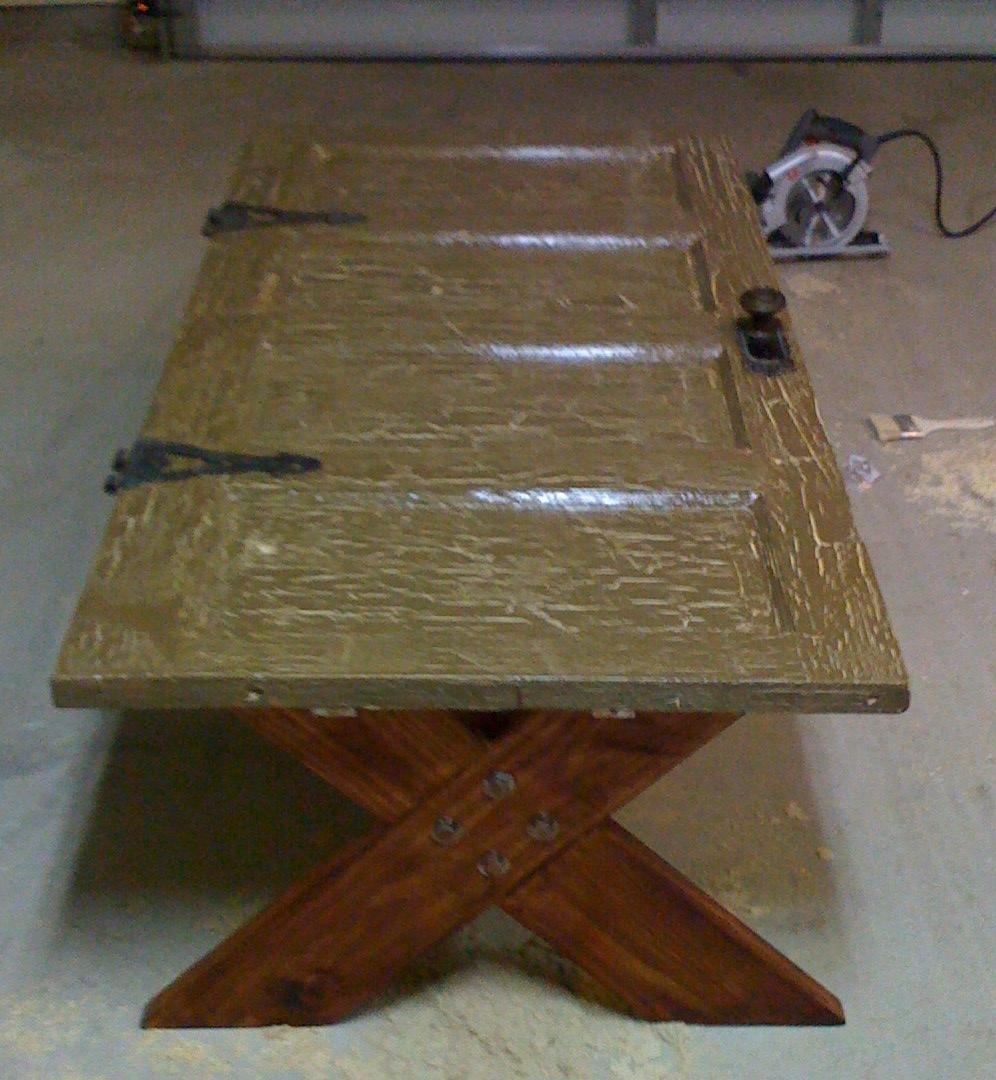 Wood us idea ideas make scrap solid wood 6 panel doors - Make a table from an old door ...