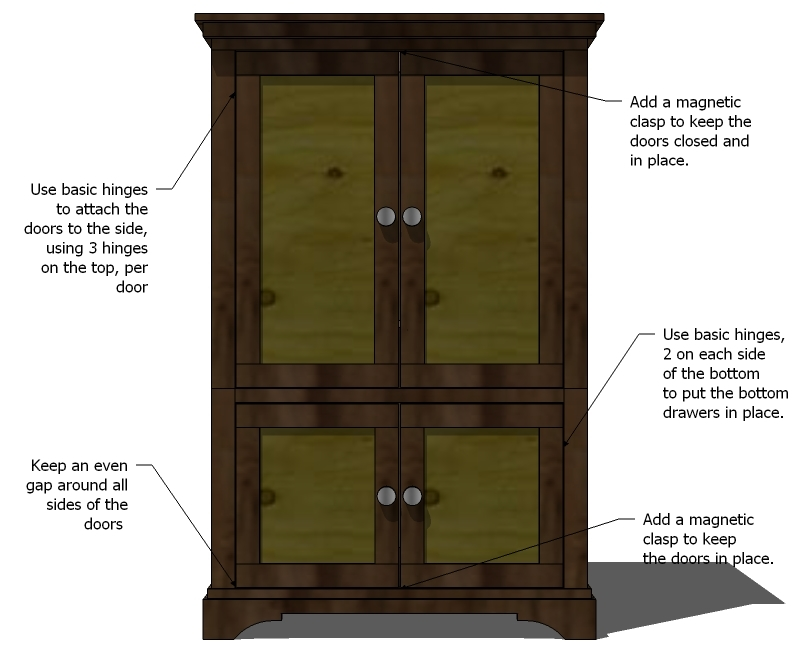 how to build an armoire