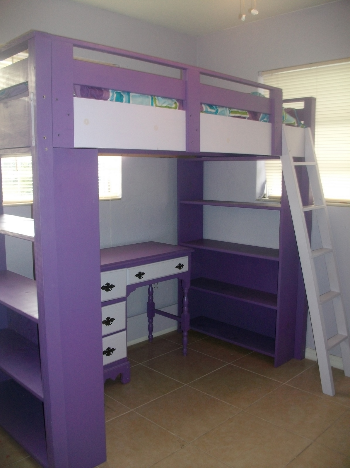 plans to build a bunk bed with desk