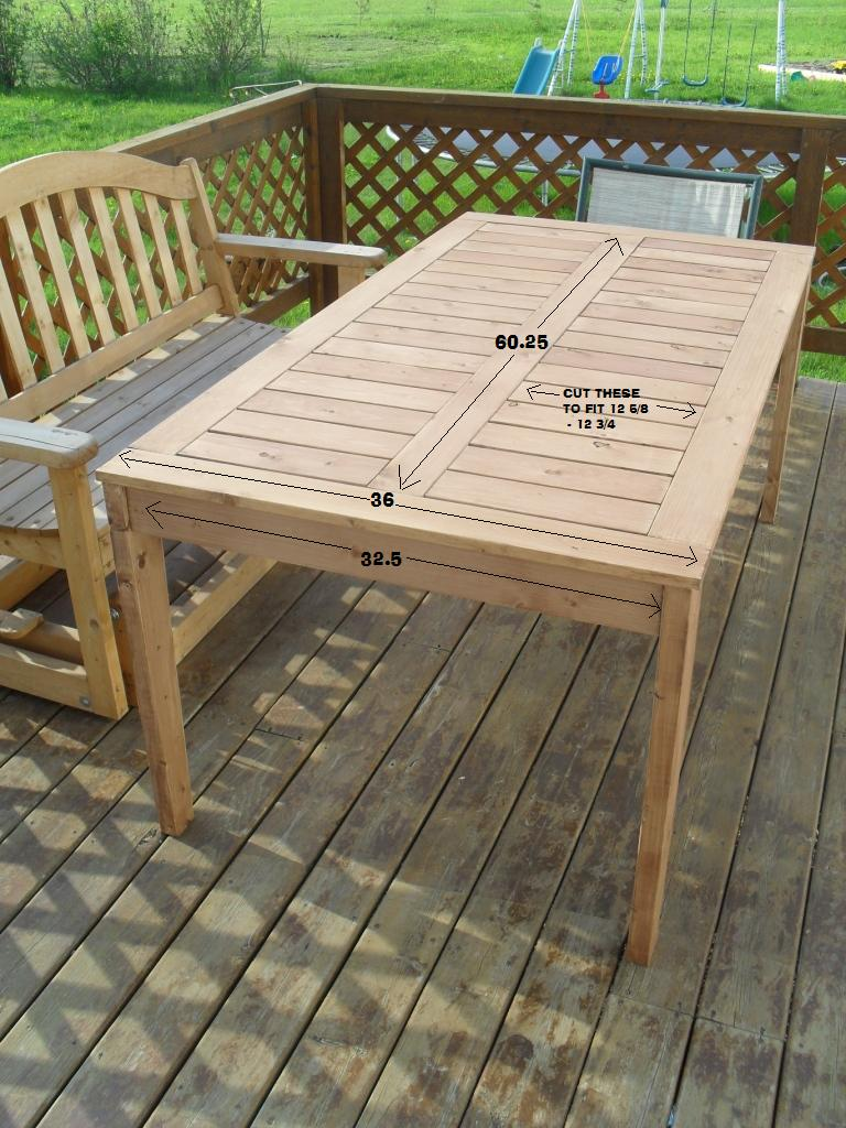 Ana White Modified Simple Outdoor Dining Table Diy