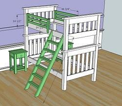 bunk bed ladder plans