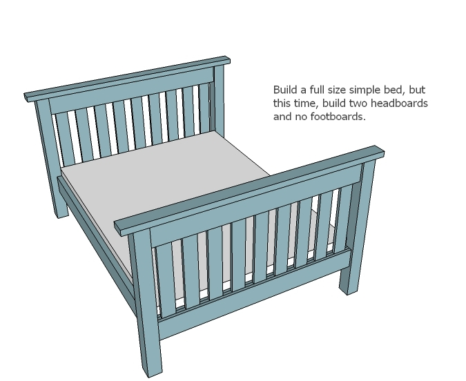 full size bed plans