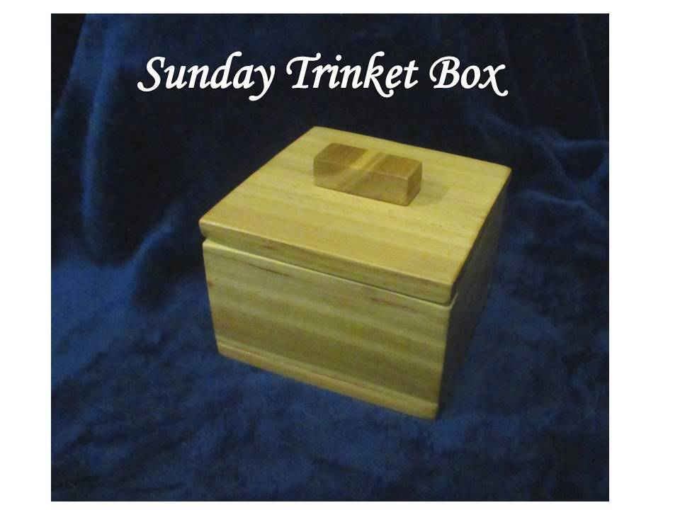 Sunday Trinket Box, Trinket, Box, Gift, Scrap, Craft, Starter project, handmade holidays