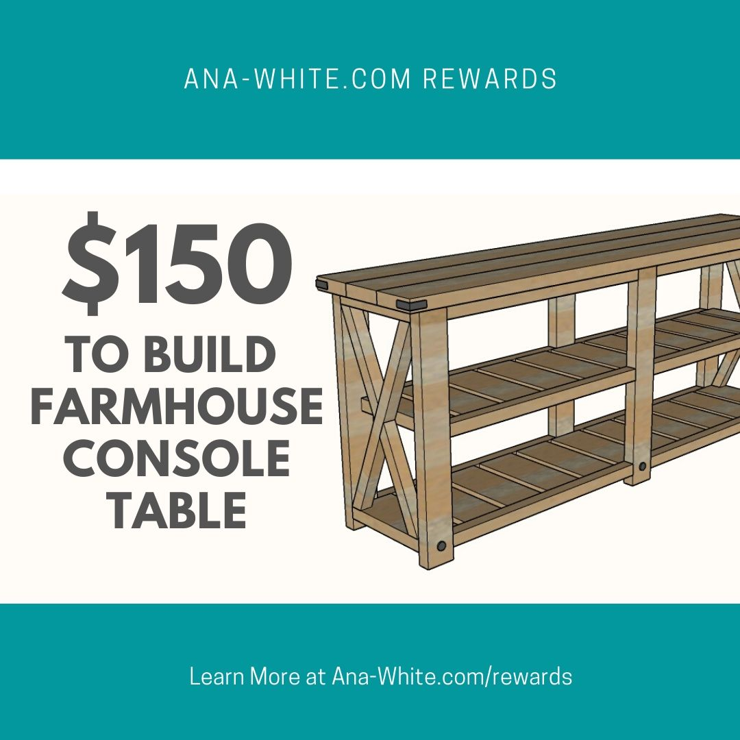 farmhouse console table build