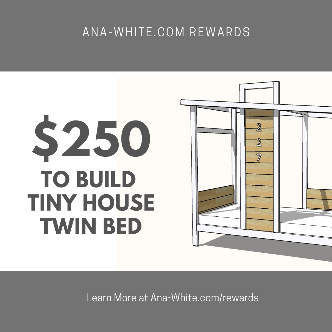 win a tiny house bed frame build