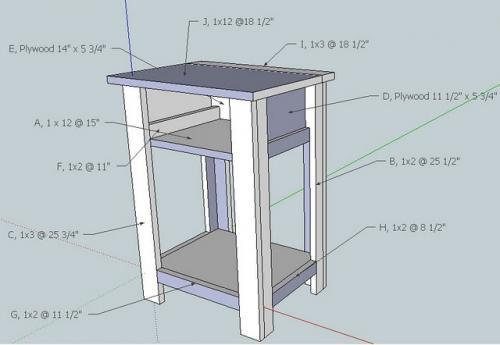Ana white build a simple nightstand diy projects for Nightstand plans