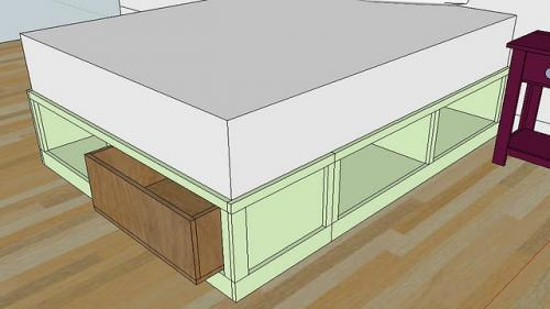 How to build queen bed frame with drawers plans plans woodworking 300 woodworking plans - Queen storage bed frame plans ...