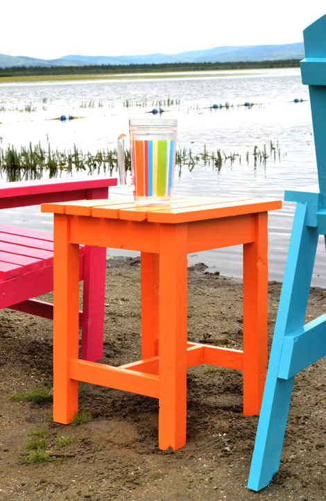 Ana white adirondack stool or end table diy projects for Adirondack side table plans