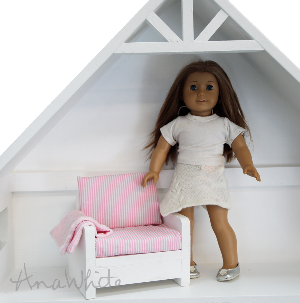 American girl doll sofa plans