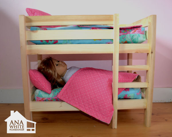 american girl bunk bed white doll bunk beds for american doll and 18 11830