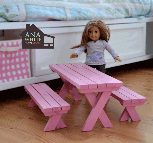 American Girl Doll Table And Chair Plans