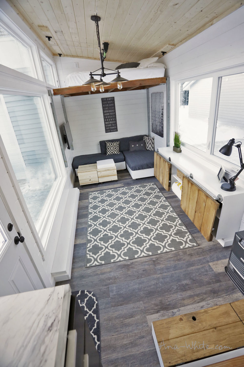 Open Concept Rustic Modern Tiny House [Plans + Sources ...