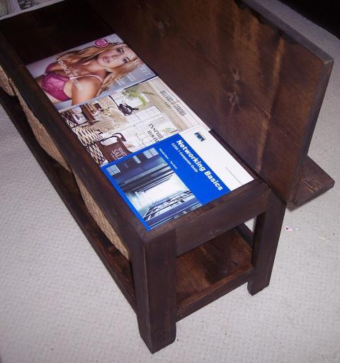 Coffee Table with Storage Bench