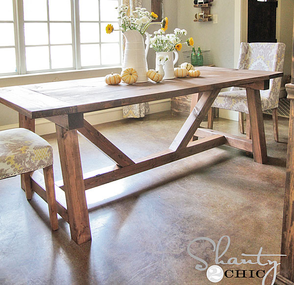 Ana White Dining Room Table: 4x4 Truss Beam Table
