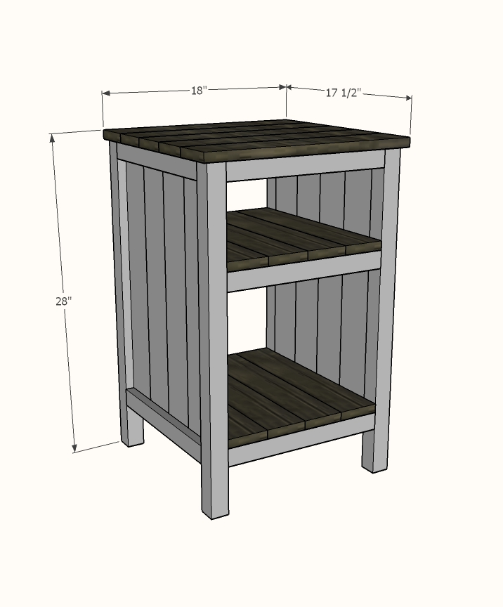 Bedside End Tables Ana White - End Table With Drawer And Shelf Plans