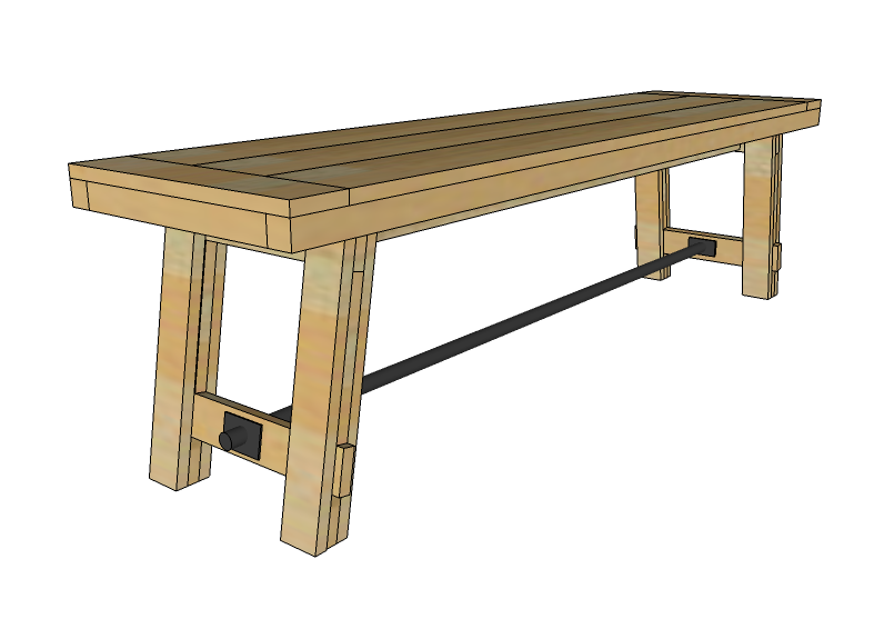 pine bench plans