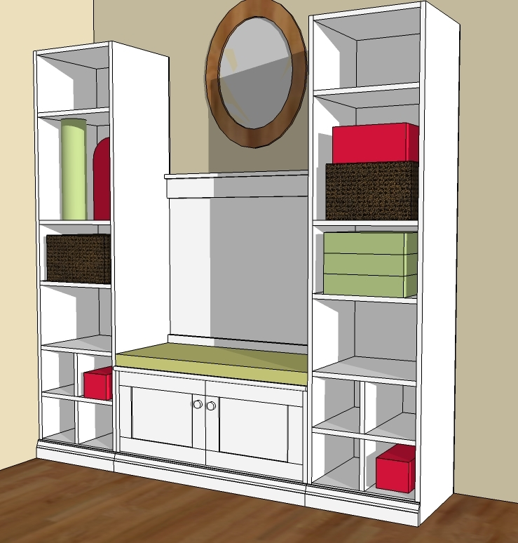 wood project ideas buy mudroom bench plans free