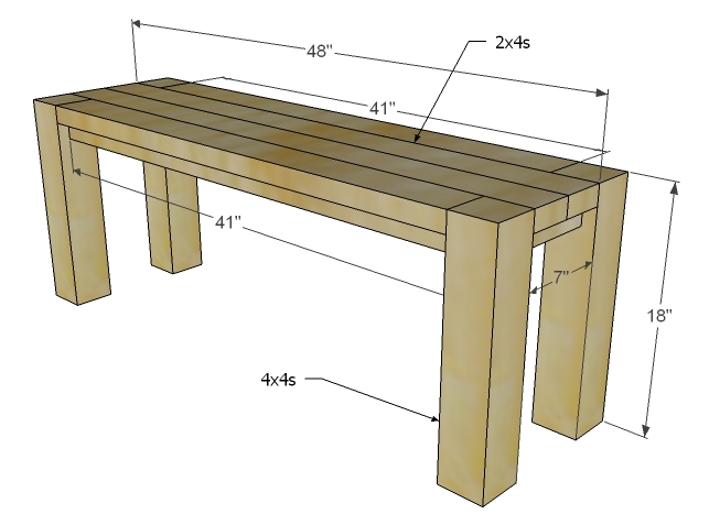 Ana White | Build a Big Ur Farm Table and Bench | Free and Easy DIY ...