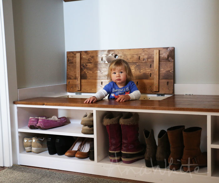 Video:Hidden Boot Storage in Wasted Space of Entry Bench | Easy DIY ...
