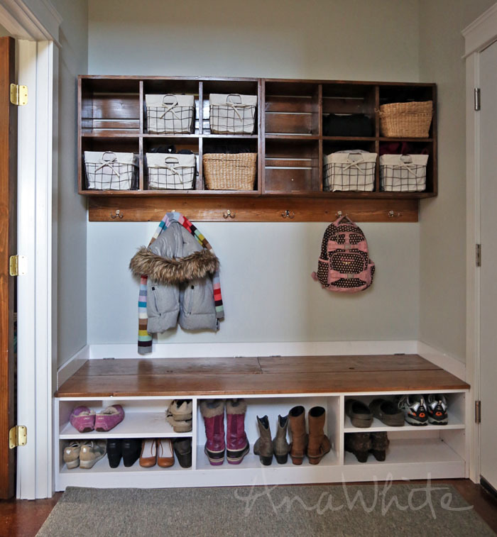 Thanks For All The Lovely Feedback On Our New Mudroom We Shared Plans Cubby Wall Bins Last Week Here