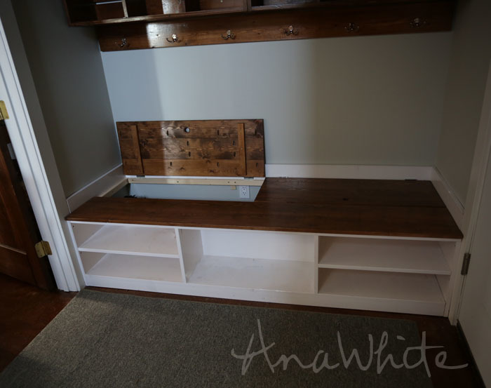 Ana White | Extra Wide Shoe Bench - DIY Projects