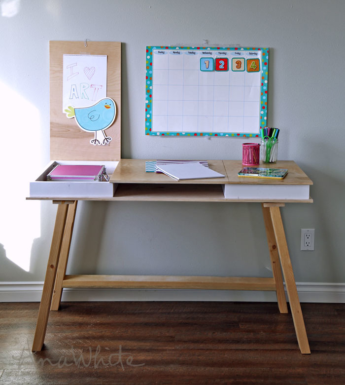 ana white easy 2x4 base build your own desk collection