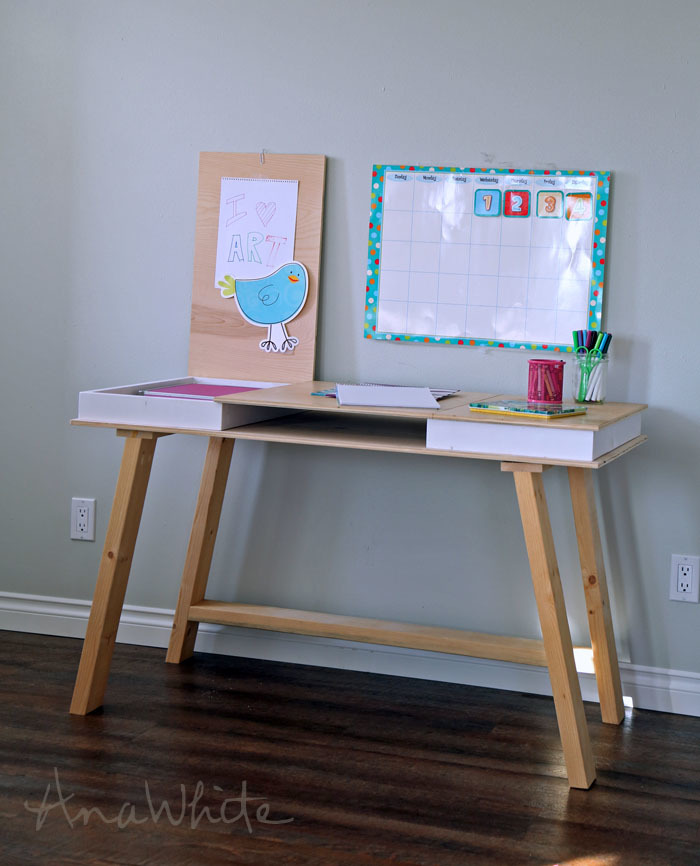 Ana White Modern 2x2 Desk Base For Build Your Own Study