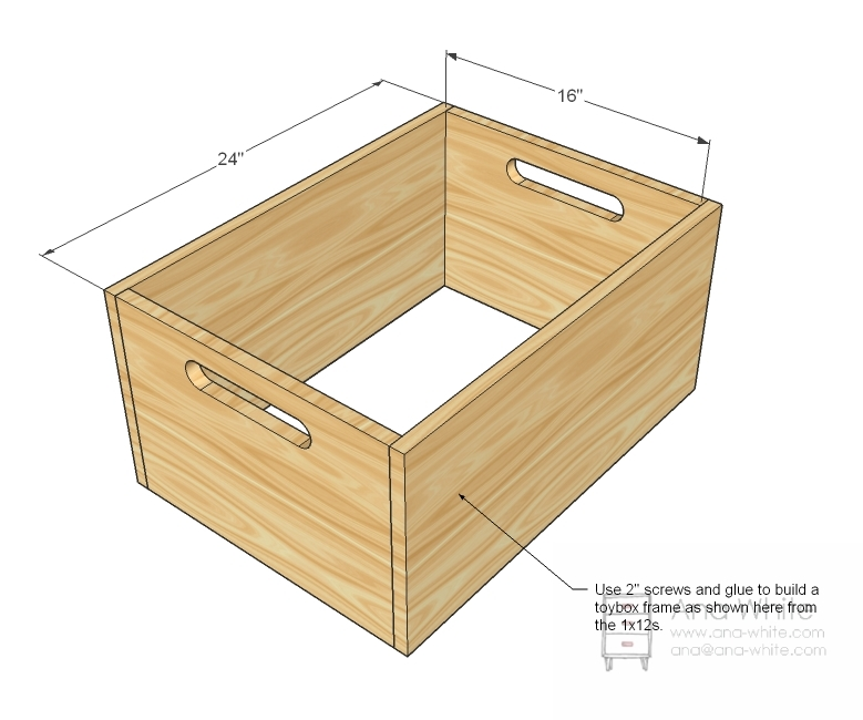 As with most storage that we do, start by build a simple box out of