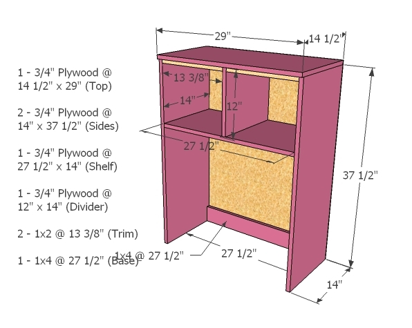 Plans For A Desk Hutch