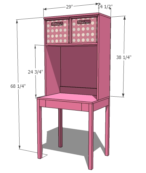 Computer Desk With Hutch Plans Computer Desk With Hutch
