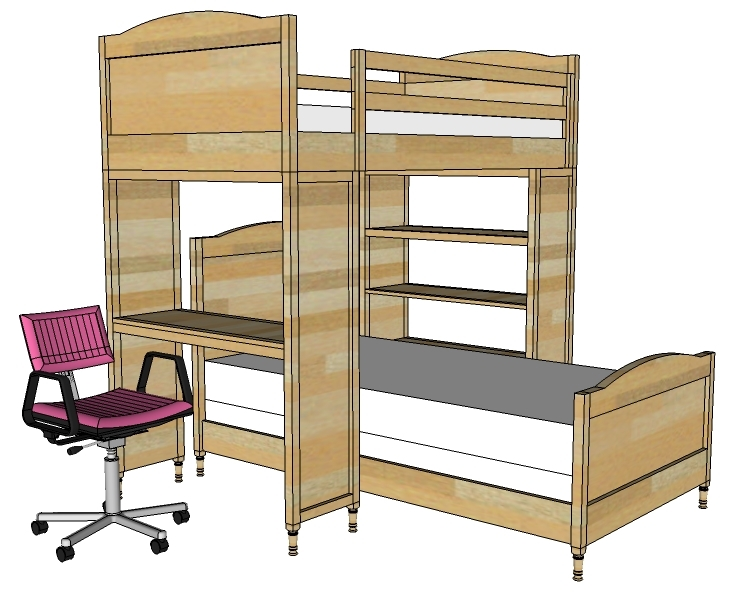 loft bed shelf plans