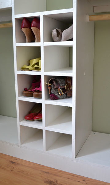 Master Closet System Shoe Cubbies Ana White