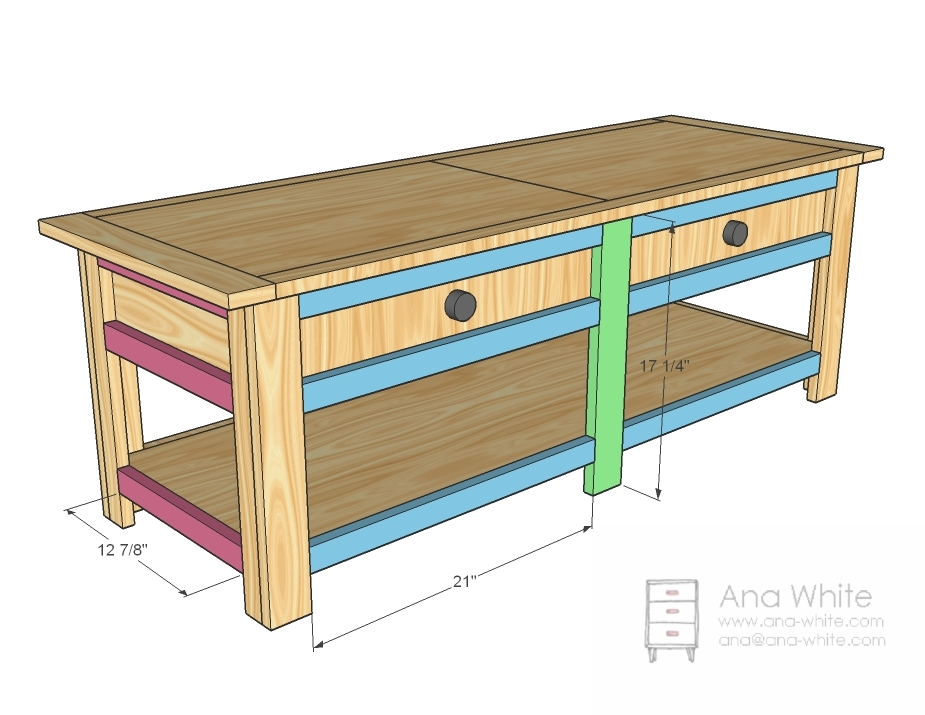... Coffee Table With Drawers Woodworking Plans Coffee Table Plans