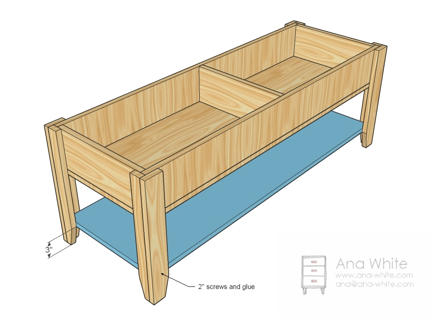 woodworking build coffee table