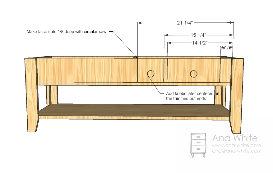 plan to make a coffee table