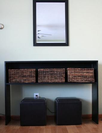 Ana White | Build a Simple Rustic Modern Console Table | Free and ...