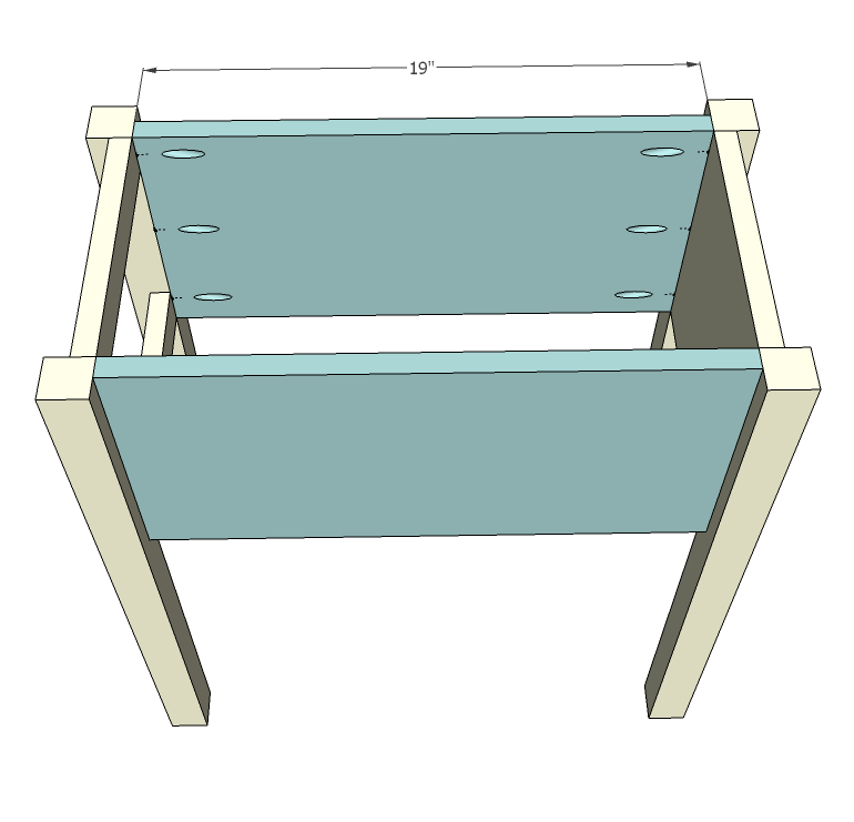 Narrow Cottage End Tables