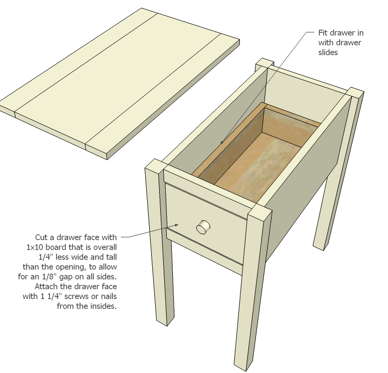 How To Make End Tables With Drawers