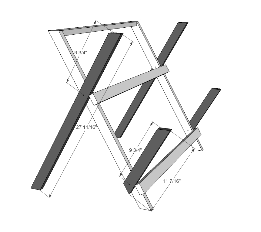 Folding Plant Stand Plans
