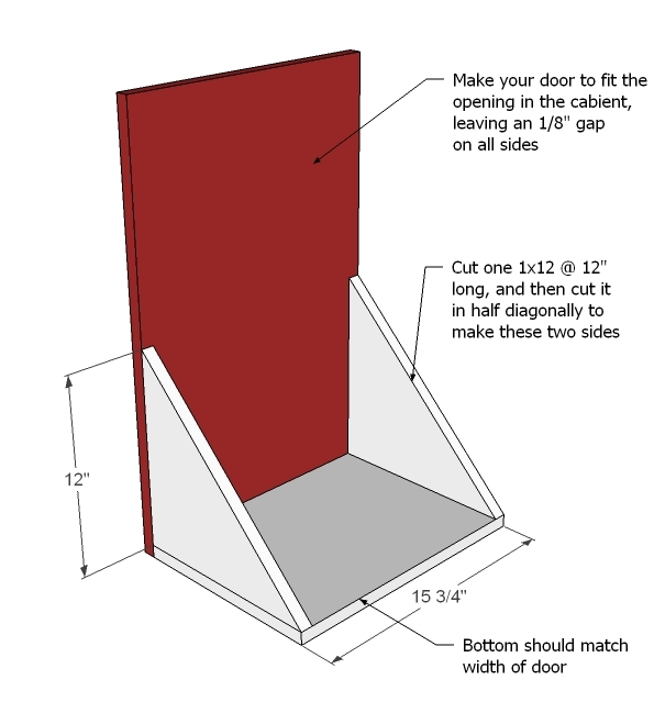 Ana White Wood Tilt Out Trash Or Recycling Cabinet Diy