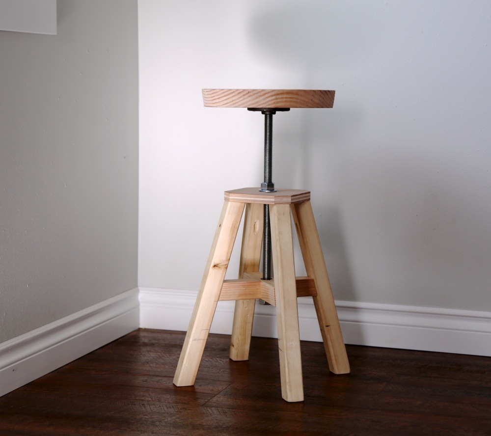 Fine Adjustable Height Wood And Metal Stool Ana White Short Links Chair Design For Home Short Linksinfo