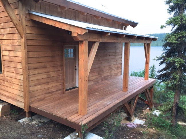 Building A Timberframe Shed Deck Roof