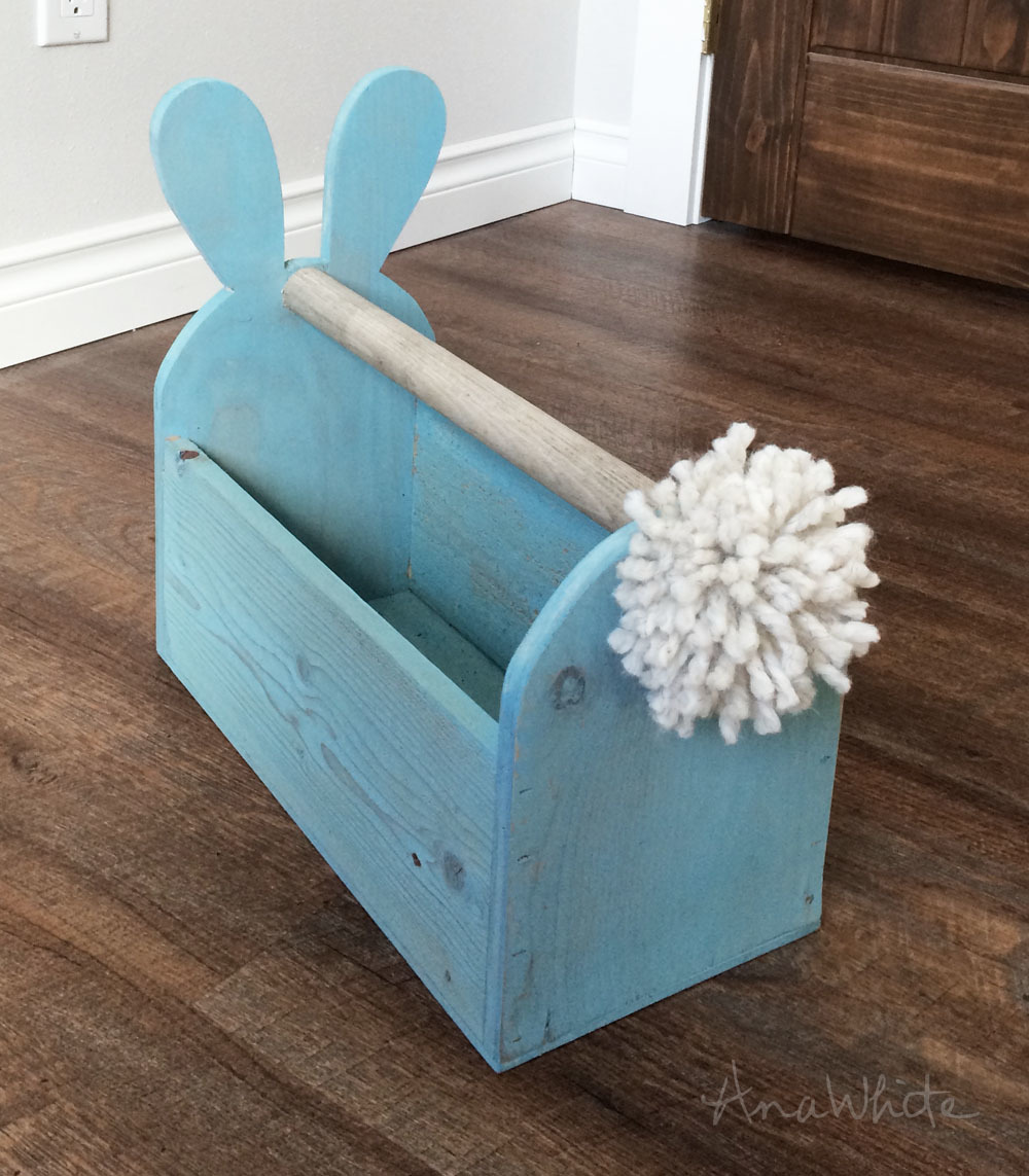 Ana White | Wood Easter Basket Bunny Shaped Trug - DIY Projects