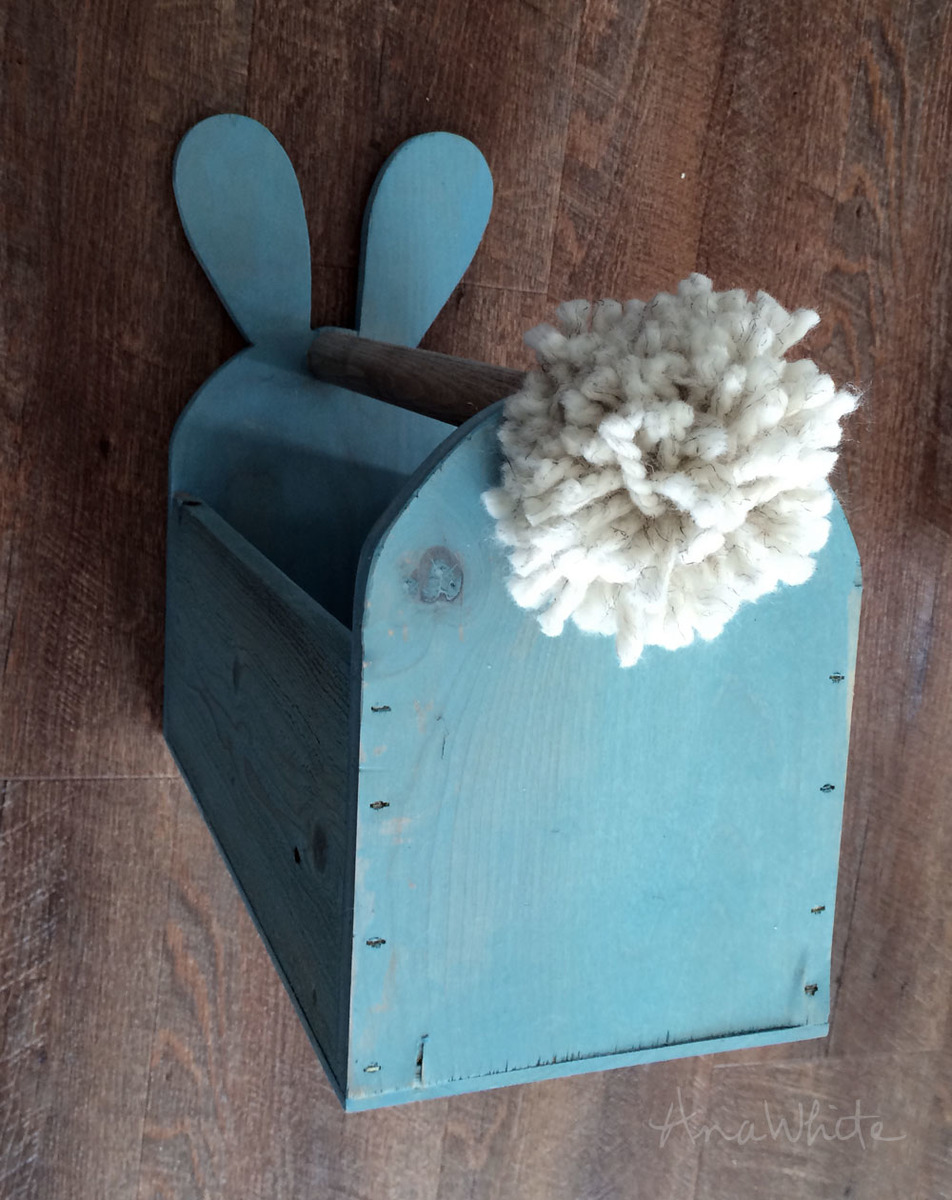 Ana White Wood Easter Basket Bunny Shaped Trug Diy