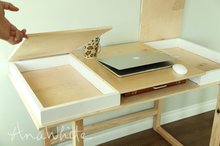 Desktop with Storage Compartments - Build-Your-Own-Desk Collection